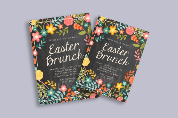 easter brunch church flyer