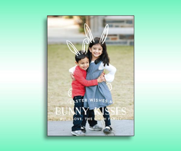 easter bunny photo card