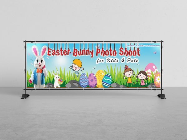 easter bunny photo shoot banner
