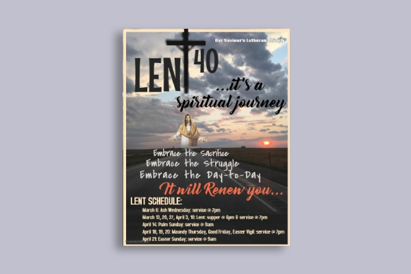 easter church activity flyer