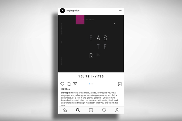easter church instagram post