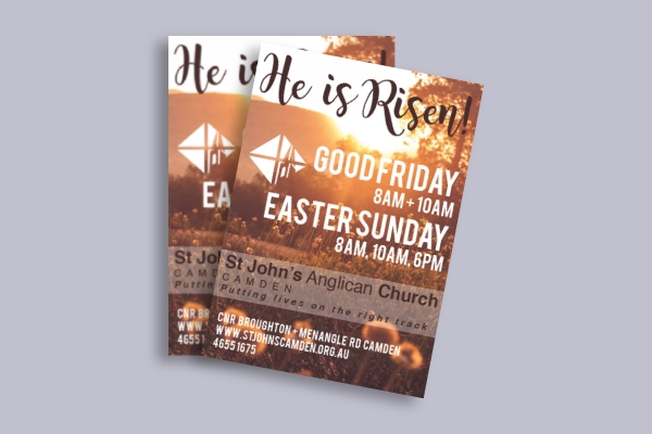 easter church invitation flyer