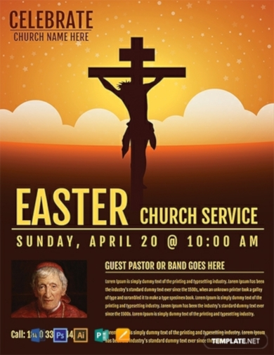 easter church service flyer