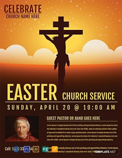 easter church service flyer1