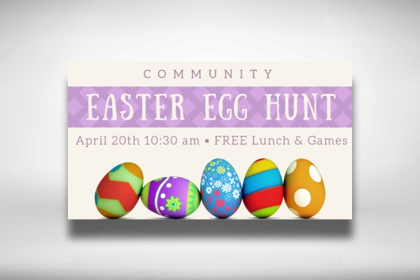 easter community egg hunt banner