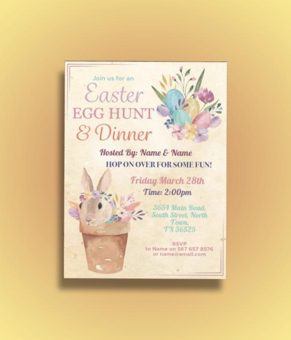 easter dinner invitation