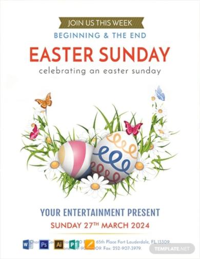 easter egg sunday flyer