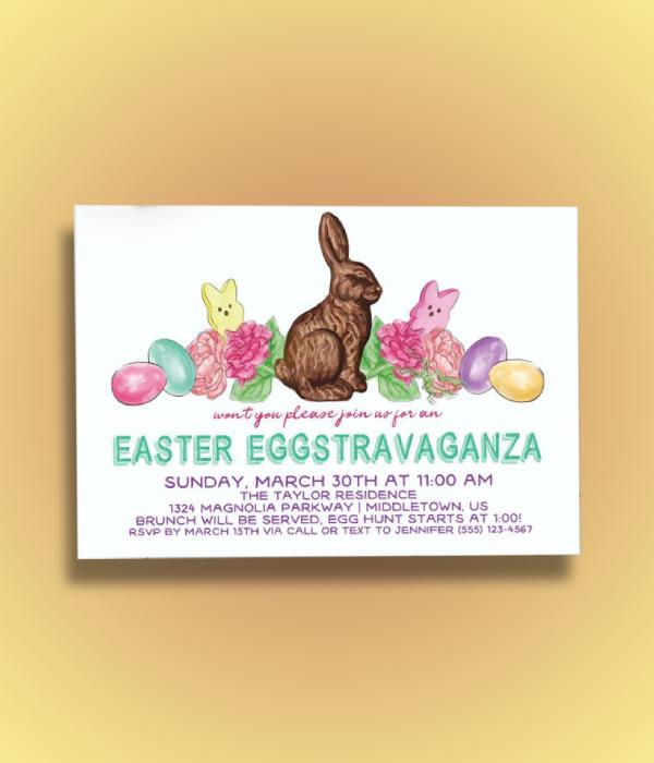 easter eggstravaganza invitation