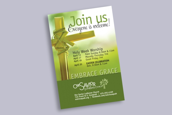 easter holiday church flyer