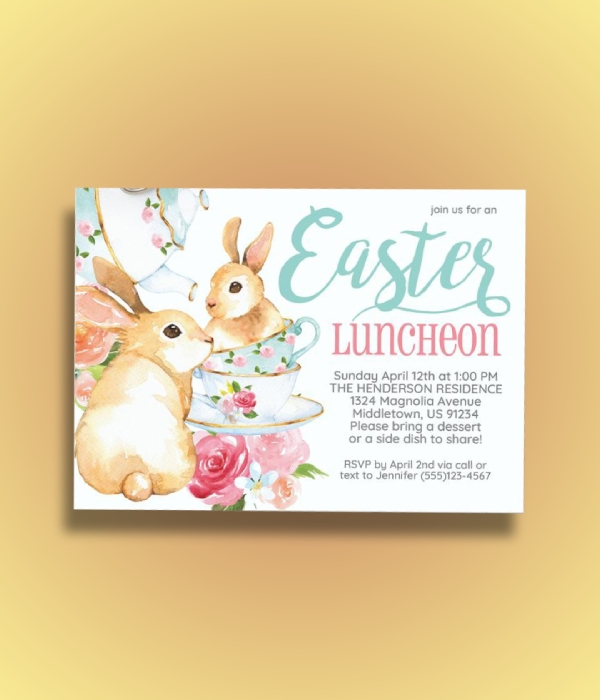 easter luncheon invitation