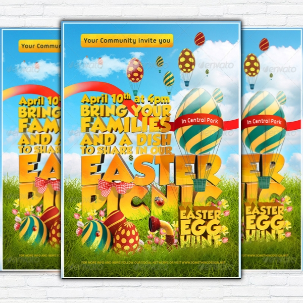 easter picnic poster