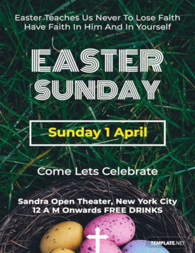 easter sunday a4 poster