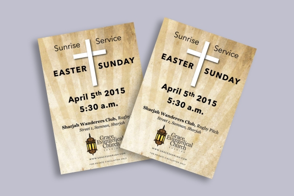 easter sunrise church flyer
