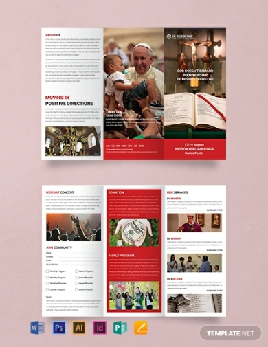 editable church brochure