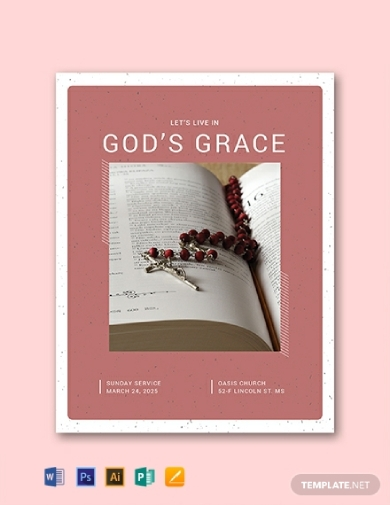editable church program