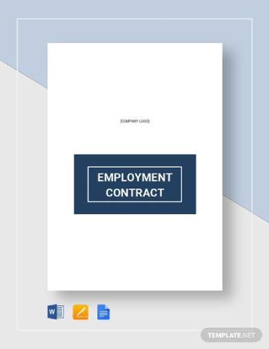 editable employee contract