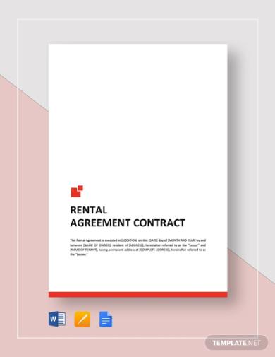 editable rental contract