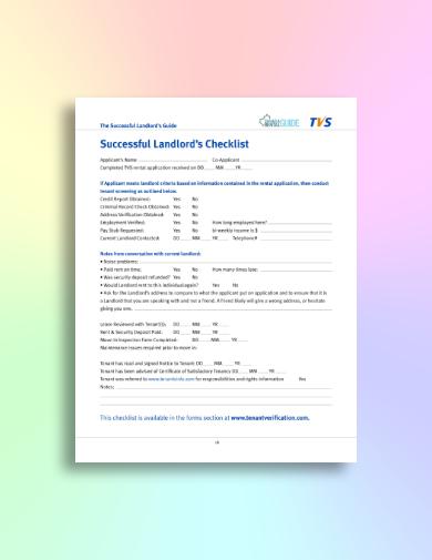effective tenant screening checklist