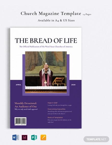 elegant church magazine template