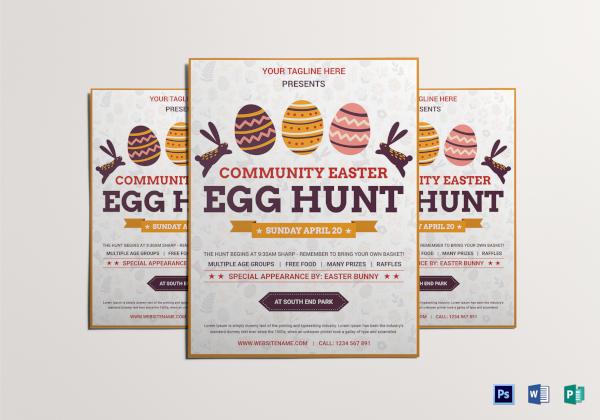 elegant easter egg hunt flyer