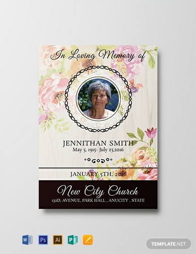 elegant funeral thank you card