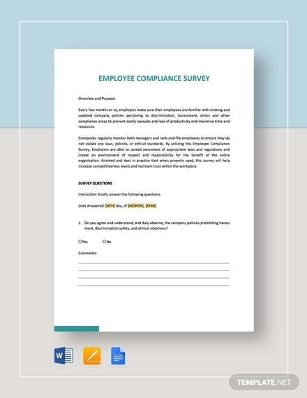 employee compliance survey