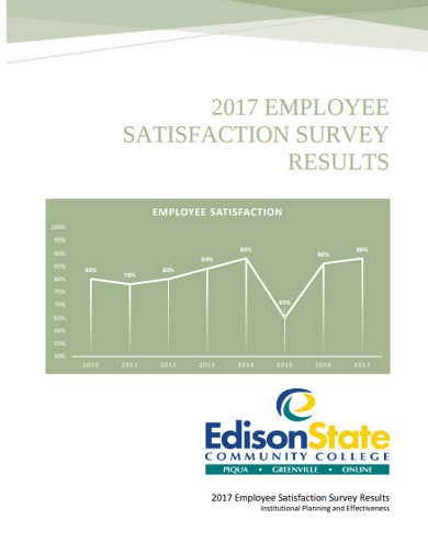 employee satisfaction survey results