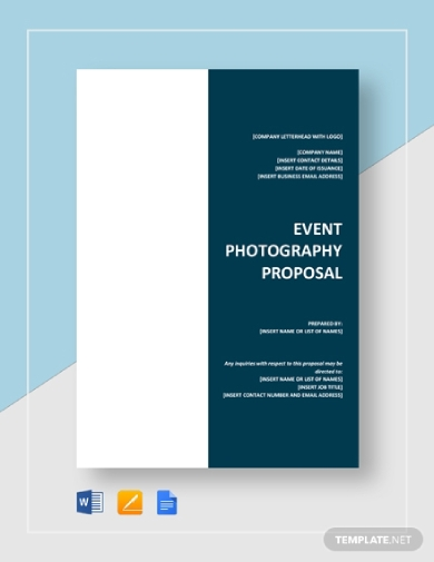 event photography proposal
