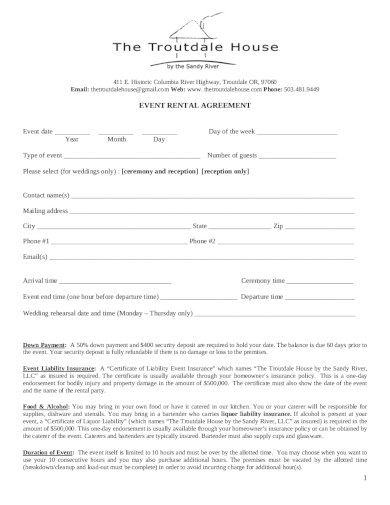 event rental agreement