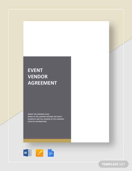 event vendor agreement template
