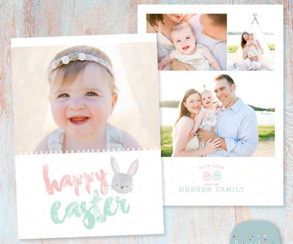 family easter card