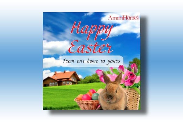 family easter greeting card