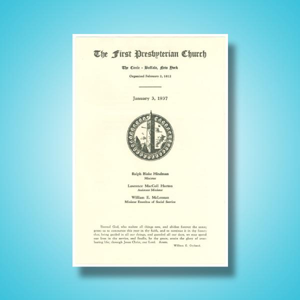 first presbyterian church service program