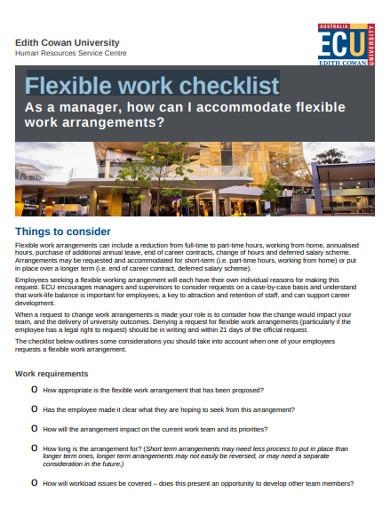 flexible work checklist