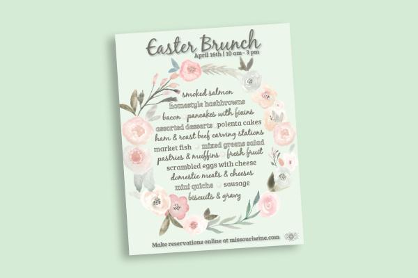 floral easter menu