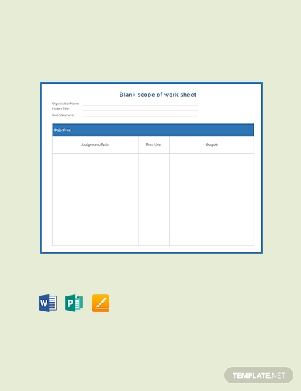 free blank scope of work