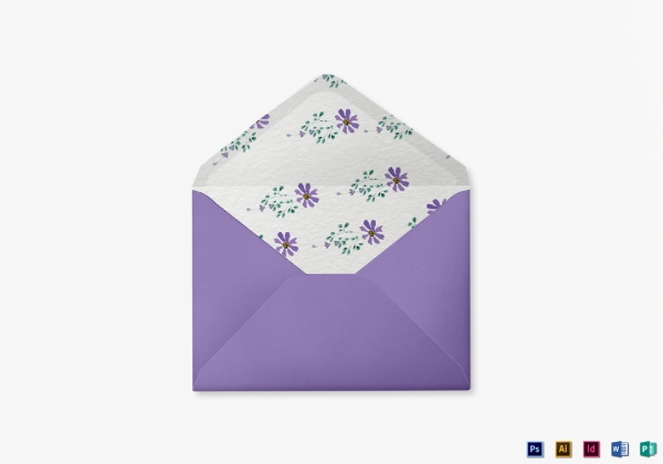 garden wedding envelope