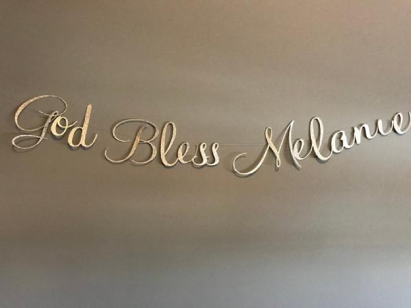 gold baptism banner