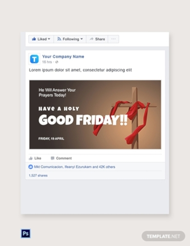 good friday church facebook post