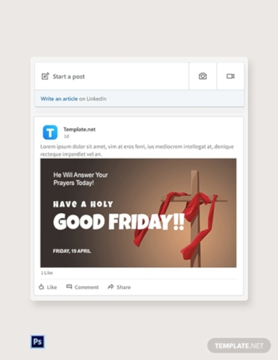 good friday church linkedin post