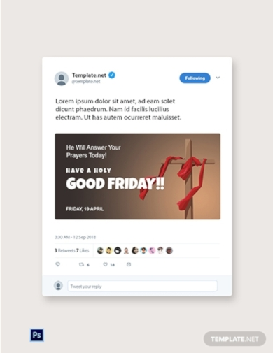 good friday church twitter post