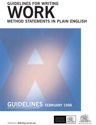 guideline for writingwork method statement
