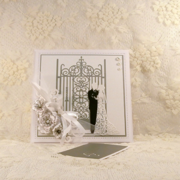 handmade wedding greeting card