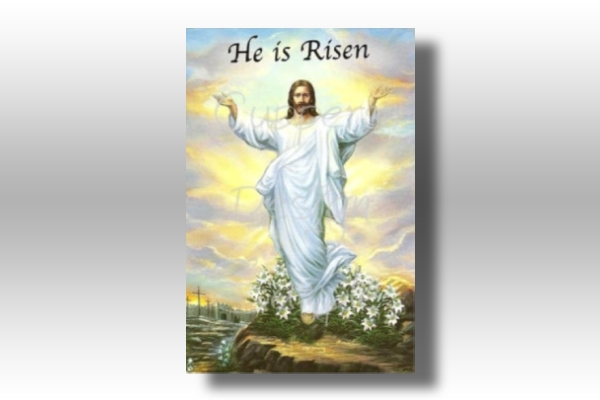 he is risen easter greeting card