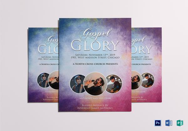 heavenly church flyer