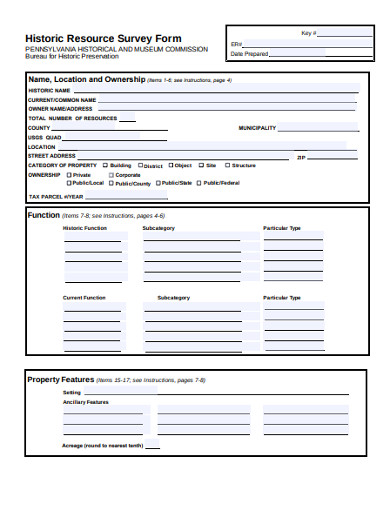 historic resource survey form