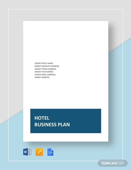 hotel business plan template