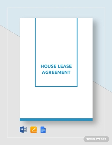 house tenant lease agreement