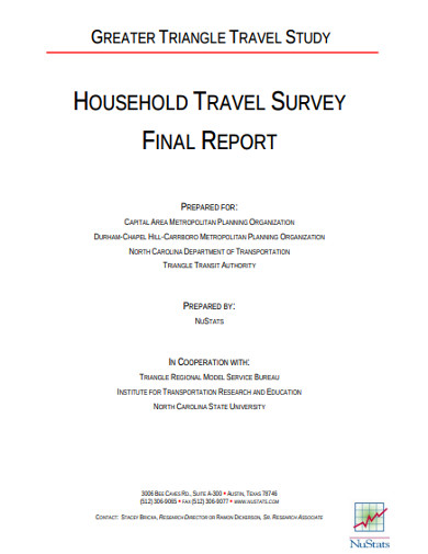 household travel survey final report