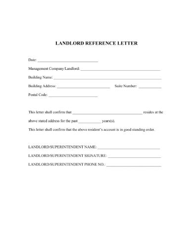 landlord rental reference letter
